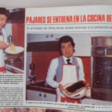 Coleccionismo de Revistas: RECORTE CLIPPING DE ANDRES PAJARES REVISTA LECTURAS Nº 1459 PAG. 56 Y 57 L53. Lote 277705208