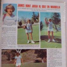 Coleccionismo de Revistas: RECORTE CLIPPING DE JAMES HUNT REVISTA LECTURAS Nº 1459 PAG. 59 L53. Lote 277705363