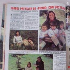Coleccionismo de Revistas: RECORTE CLIPPING DE ISABEL PREYSLER Y SUS HIJOS REVISTA LECTURAS Nº 1459 PAG. 62 Y 63 L53. Lote 277705528