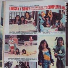 Coleccionismo de Revistas: RECORTE CLIPPING DE LINDSAY Y SIDNEY GEMELAS DE LA CASA DE LA PRADERA LECTURAS Nº 1459 PAG. 66 L53. Lote 277705763