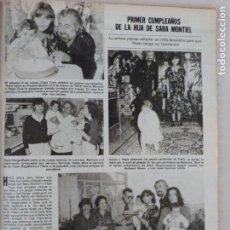 Coleccionismo de Revistas: RECORTE CLIPPING DE HIJA DE SARA MONTIEL REVISTA LECTURAS Nº 1459 PAG. 77 L53. Lote 277705903