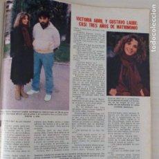 Coleccionismo de Revistas: RECORTE CLIPPING DE VICTORIA ABRIL Y GUSTAVO LAUBE REVISTA LECTURAS Nº 1459 PAG. 85 L53. Lote 277706238