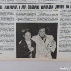 Coleccionismo de Revistas: RECORTE CLIPPING DE CARLOS LARRAÑAGA Y ANA DIOSDADO REVISTA LECTURAS Nº 1459 PAG. 102 L53. Lote 277706463