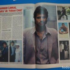 Collectionnisme de Magazines: RECORTE CLIPPING DE LORENZO LAMAS DE FALCON CREST REVISTA LECTURAS Nº 1710 PAG. 72 Y 73 L57. Lote 284241138