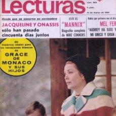 Coleccionismo de Revistas: REVISTA LECTURAS NUMERO 882 GRACE DE MÓNACO 1969. Lote 284644043