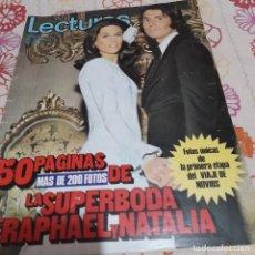 Collectionnisme de Magazines: REVISTA LECTURAS NUMERO 1058 LA BODA DE RAPHAEL Y NATALIA. Lote 286213428