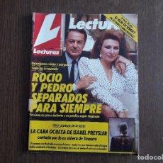 Colecionismo de Revistas: REVISTA LECTURAS, Nº 1945 DE 14 DE JULIO 1989. ROCIO JURADO Y PEDRO CARRASCO SEPARADOS PARA SIEMPRE.. Lote 286372773