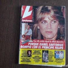 Colecionismo de Revistas: REVISTA LECTURAS, Nº 2061, 4 DE OCTUBRE DE 1991. ISABEL SARTORIUS ROMPIÓ CON EL PRÍNCIPE FELIPE.. Lote 286373243