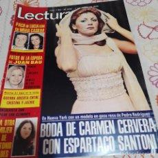 Collectionnisme de Magazines: REVISTA LECTURAS NUMERO 1194 LA BODA DE CARMEN CERVERA Y ESPARTACO SANTONI. Lote 286383088