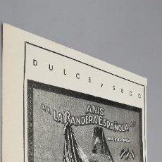 Coleccionismo de Revistas: RECORTE PUBLICIDAD ANÍS LA BANDERA ESPAÑOLA AÑO 1941 REVISTA VERTICE. Lote 286523658