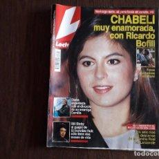 Collezionismo di Riviste: REVISTA LECTURAS, Nº 2143, 30 ABRIL 1993. CHABELI ENAMORADA CON RICARDO BOFILL.. Lote 286886738