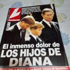 Collectionnisme de Magazines: REVISTA LECTURAS NUMERO 2372 EL INMENSO DOLOR DE LOS HIJOS DE DIANA. Lote 287040843