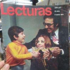 Coleccionismo de Revistas: REVISTA LECTURAS 8 DE ENERO 1971 N°977-AUGUSTITO/AL BANO COBTRA SU SUEGRA/PÓSTER EL CORDOBÉS INTERIO. Lote 287439538