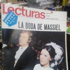 Coleccionismo de Revistas: REVISTA LECTURAS 25 DE NOVIEMBRE 1969 N°919-NUMERO EXTRA DEDICADO A LA BODA DE MASSIEL. Lote 287441563
