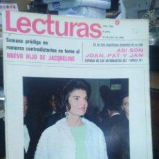 Coleccionismo de Revistas: REVISTA LECTURAS 18 DE JULIO 1969 N°900-NUEVO HIJO DE JACQUELINE/ASÍ SON JOAN,PAT Y JAN MUJERES DE L. Lote 287442398