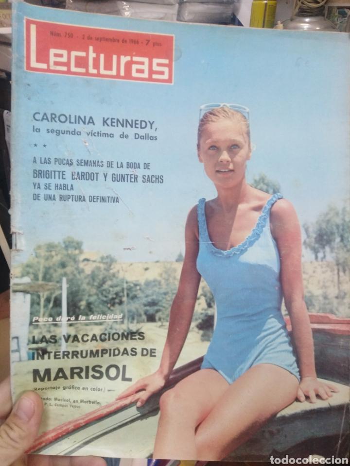 REVISTA LECTURAS 2 DE SEPTIEMBRE 1966 N°750-CAROLINA KENNEDY/VACACIONES INTERRUMPIDAS DE MARISOL (Coleccionismo - Revistas y Periódicos Modernos (a partir de 1.940) - Revista Lecturas)