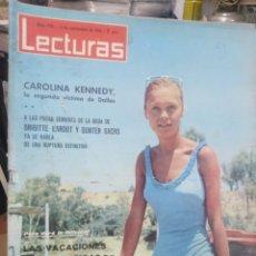 Coleccionismo de Revistas: REVISTA LECTURAS 2 DE SEPTIEMBRE 1966 N°750-CAROLINA KENNEDY/VACACIONES INTERRUMPIDAS DE MARISOL. Lote 287443223