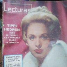Coleccionismo de Revistas: REVISTA LECTURAS 22 DE ENERO 1963 N°666-TIPPI HEDREN/PAQUITA RICO/. Lote 287443883