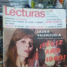 Coleccionismo de Revistas: REVISTA LECTURAS 27 DE DICIEMBRE 1968 N°871-FELIZ AÑO NUEVO 1969 LAURA VALENZUELA. Lote 287445028