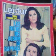 Coleccionismo de Revistas: REVISTA LECTURAS 9 DE JUNIO 1972 N°1051-SIN TRUCOS LAS FOTOS DEL ALBUM DE RAPHAEL Y NATALIA. Lote 287446608