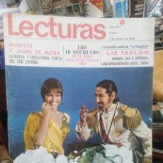 Coleccionismo de Revistas: REVISTA LECTURAS 7 DE FEBRERO 1969 N°877-MARISOL Y JAIME DE MORA/LIZ TAYLOR/MODA. Lote 287447108