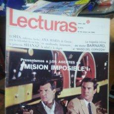 Coleccionismo de Revistas: REVISTA LECTURAS 12 DE ENERO 1968 N°PRESENTAMOS A LOS AGENTES DE MISIÓN IMPOSIBLE/ANA MARIA DE GRECI. Lote 287449373