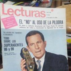 Coleccionismo de Revistas: REVISTA LECTURAS 9 DE AGOSTO 1968 N°851-EL NO AL USO DE LA PILDORA/TODO SOBRE LOS SUPERAGENTES 86/99. Lote 287451693