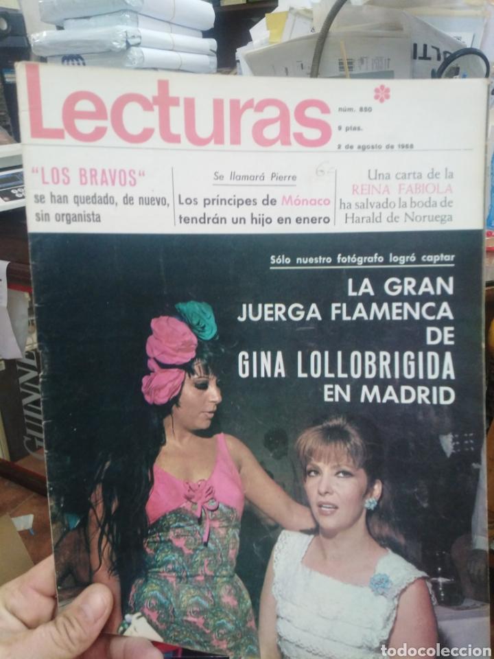 REVISTA LECTURAS 2 DE AGOSTO 1968 N°850-LOS BRAVOS/PRÍNCIPES DE MONACO/GINA LOLLOBRIGIDA (Coleccionismo - Revistas y Periódicos Modernos (a partir de 1.940) - Revista Lecturas)