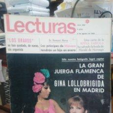 Coleccionismo de Revistas: REVISTA LECTURAS 2 DE AGOSTO 1968 N°850-LOS BRAVOS/PRÍNCIPES DE MONACO/GINA LOLLOBRIGIDA. Lote 287454388