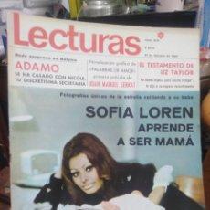Coleccionismo de Revistas: REVISTA LECTURAS 21 DE FEBRERO 1969 N°879-ADAMO/JOAN MANUEL SERRAT/LIZ TAYLOR/SOFÍA LOREN. Lote 287454968