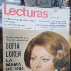 Coleccionismo de Revistas: REVISTA LECTURAS 3 DE ENERO 1969 N°872-SOFIA LOREN LA MAMÁ DE 1969. Lote 287456128