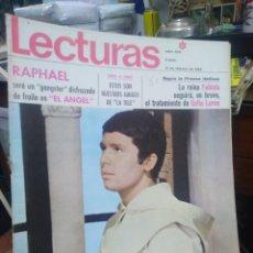 Coleccionismo de Revistas: REVISTA LECTURAS 14 DE FEBRERO 1969 N°875-RAPHAEL SERÁ UN FRAILE/LA REINA FABIOLA. Lote 287456458