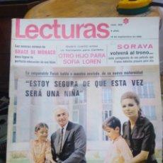 Coleccionismo de Revistas: REVISTA LECTURAS 19 DE SEPTIEMBRE 1969 N°909-OTRO HIJO PARA SOFÍA LOREN/GRACE DE MONACO/SORAYA VOLVÉ. Lote 287465428