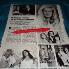 Coleccionismo de Revistas: RECORTE : LA TRAGICA MUERTE DE LA CANTANTE DALIDA. LECTURAS, MAYO 1987(#). Lote 288362303