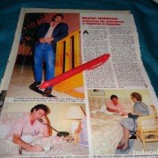 Coleccionismo de Revistas: RECORTE : BERTIN OSBORNE, ENFERMA DE PULMONIA. LECTURAS, MAYO 1987(#). Lote 288362418