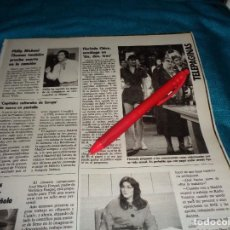 Colecionismo de Revistas: RECORTE : FLORINDA CHICO, SEXOLOGA EN EL UN, DOS, TRES..... LECTURAS, MAYO 1987(#). Lote 288362513