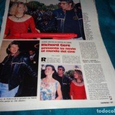 Coleccionismo de Revistas: RECORTE : RICHARD GERE, CON SU NOVIA EN CANNES. LECTURAS, JUNIO 1988 (#). Lote 288366473