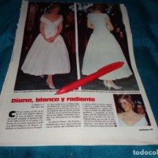 Coleccionismo de Revistas: RECORTE : DIANA DE GALES, EN CONCIERTO DE GALA. LECTURAS, JUNIO 1988 (#). Lote 288366888
