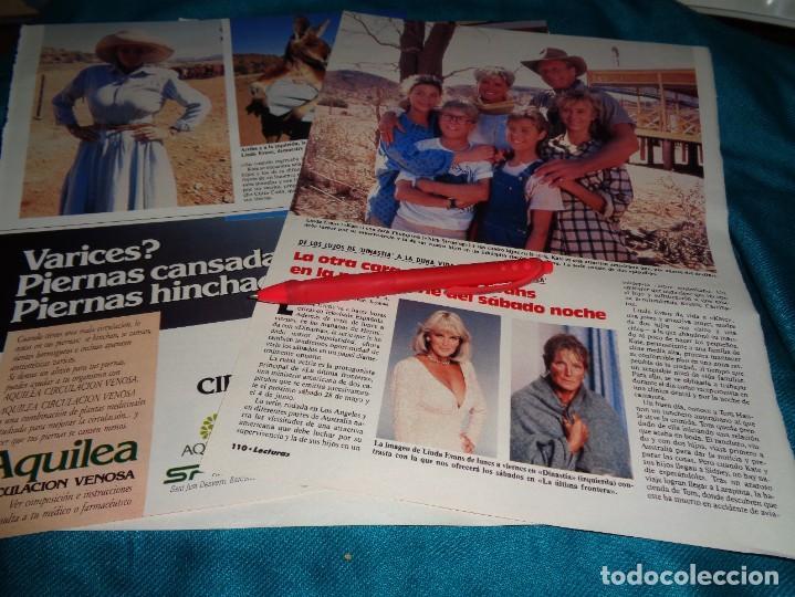 RECORTE : LA OTRA CARA DE LINDA EVANS. LECTURAS, JUNIO 1988 (#) (Coleccionismo - Revistas y Periódicos Modernos (a partir de 1.940) - Revista Lecturas)