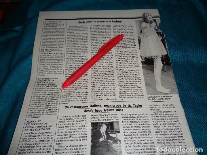 RECORTE : SANDY SHAW, SE CONVIERTE A L BUDISMO. LECTURAS, JUNIO 1988 (#) (Coleccionismo - Revistas y Periódicos Modernos (a partir de 1.940) - Revista Lecturas)