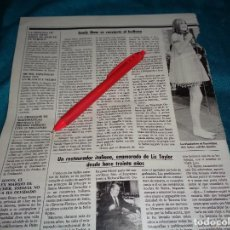 Coleccionismo de Revistas: RECORTE : SANDY SHAW, SE CONVIERTE A L BUDISMO. LECTURAS, JUNIO 1988 (#). Lote 288367238