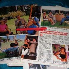 Coleccionismo de Revistas: RECORTE : LOS THYSSEN ( CARMEN CERVERA) CON JESUS HERMIDA EN MARBELLA. LECTURAS, JULIO 1988(#). Lote 289404403