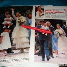 Coleccionismo de Revistas: RECORTE : BODA DE ORNELLA MUTI CON FEDERICO FACCHINETTI. LECTURAS, JULIO 1988(#). Lote 289404513