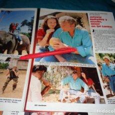Coleccionismo de Revistas: RECORTE : JOHNNY HALLYDAY Y GISELLE, AMOR EN SRI LANKA. LECTURAS, JUNIO 1988(#). Lote 289603093