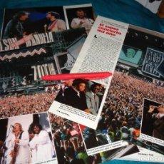 Coleccionismo de Revistas: RECORTE : EL SUPER CONCIERTO DEL AÑO : HOMENAJE A NELSON MANDELA . LECTURAS, JUNIO 1988(#). Lote 289603493