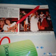 Coleccionismo de Revistas: RECORTE : MISS MOSCU, UNA BELLEZA DE 16 AÑOS. LECTURAS, JUNIO 1988(#). Lote 289603778