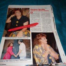 Coleccionismo de Revistas: RECORTE : CARMEN SEVILLA, ANUNCIA SU RETIRADA. LECTURAS, JULIO 1988(#). Lote 290007093