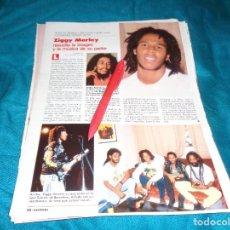 Coleccionismo de Revistas: RECORTE : ZIGGY MARLEY, EL HIJO DE BOB MARLEY, ACTUA EN ESPAÑA. LECTURAS, JULIO 1988(#). Lote 290007188