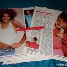 Coleccionismo de Revistas: RECORTE : WHITNEY HOUSTON, LA NUEVA DIOSA DEL DISCO. LECTURAS, JULIO 1988(#). Lote 290007283