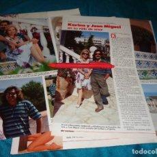 Coleccionismo de Revistas: RECORTE : KARINA Y JUAN MIGUEL, EN SU NIDO DE AMOR. LECTURAS, JULIO 1988(#). Lote 290007408